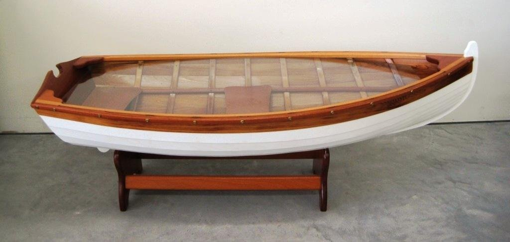 218: BOAT COFFEE TABLE - 218: BOAT COFFEE TABLE : Lot 0218