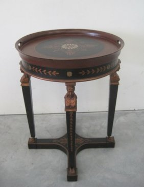 ROUND TOP CHELSEA TABLE W/ FIGURAL LEGS