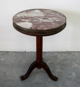 22: MARBLE TOP END TABLE