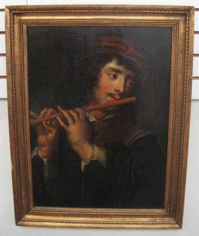 140: 17th CENTURY ATTRIBUTED JAN COSSIERS OIL PAINTING