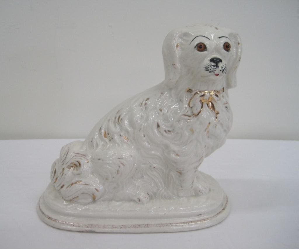 153: STAFFORDSHIRE DOG FIGURINE