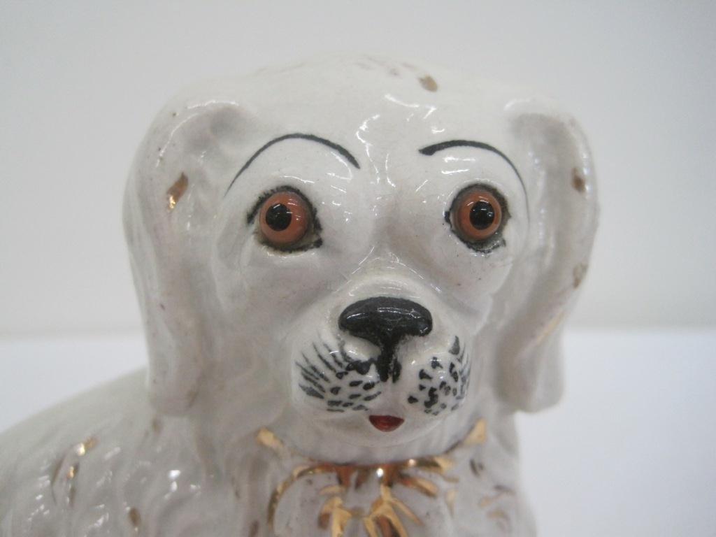 153: STAFFORDSHIRE DOG FIGURINE - 4