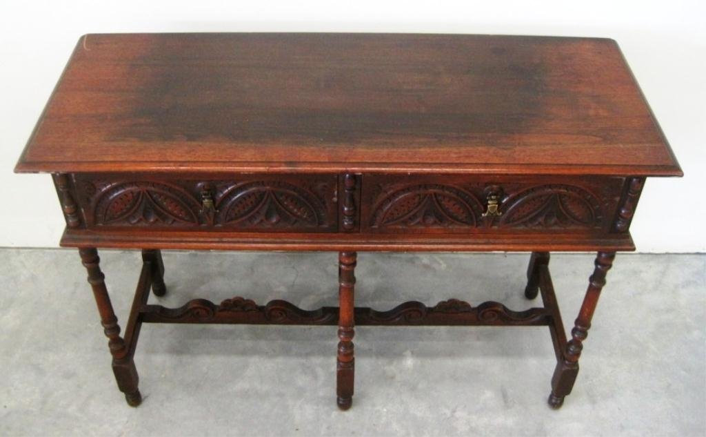 ANTIQUE W. A. HATHAWAY TABLE