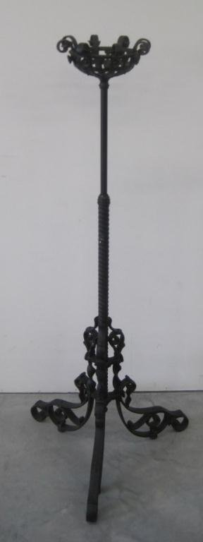 TALL WROUGHT IRON CANDLE HOLDER LANTERN