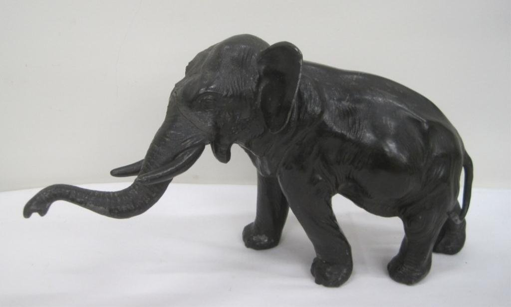 ASIAN BRONZE ELEPHANT FIGURINE