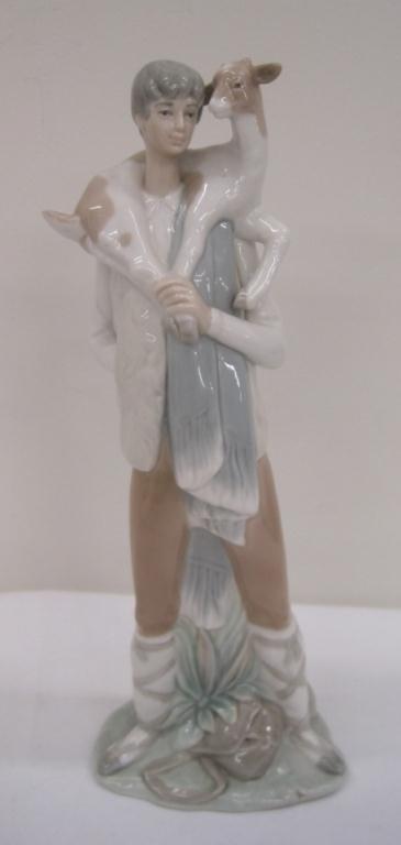 LLADRO SHEPHERD BOY W/ GOAT 4506