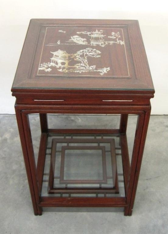 MOTHER OF PEARL INLAID ASIAN TABLE