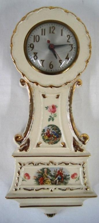 VINTAGE SESSIONS PORCELAIN CLOCK