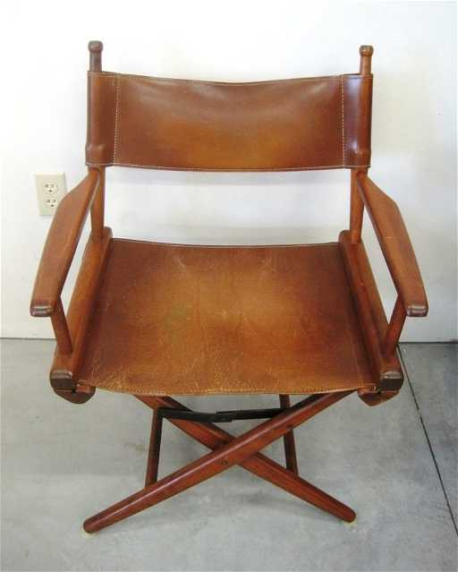 - VINTAGE LEATHER DIRECTOR'S CHAIR