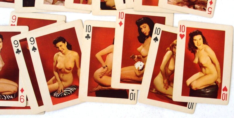 VINTAGE NUDE PIN UP GIRLS PLAYING CARDS - 3