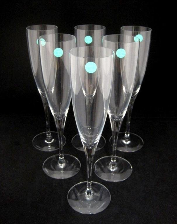 (6) TIFFANY & CO. CHAMPAGNE FLUTES