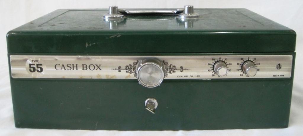 VINTAGE ELM CASH BOX - 2