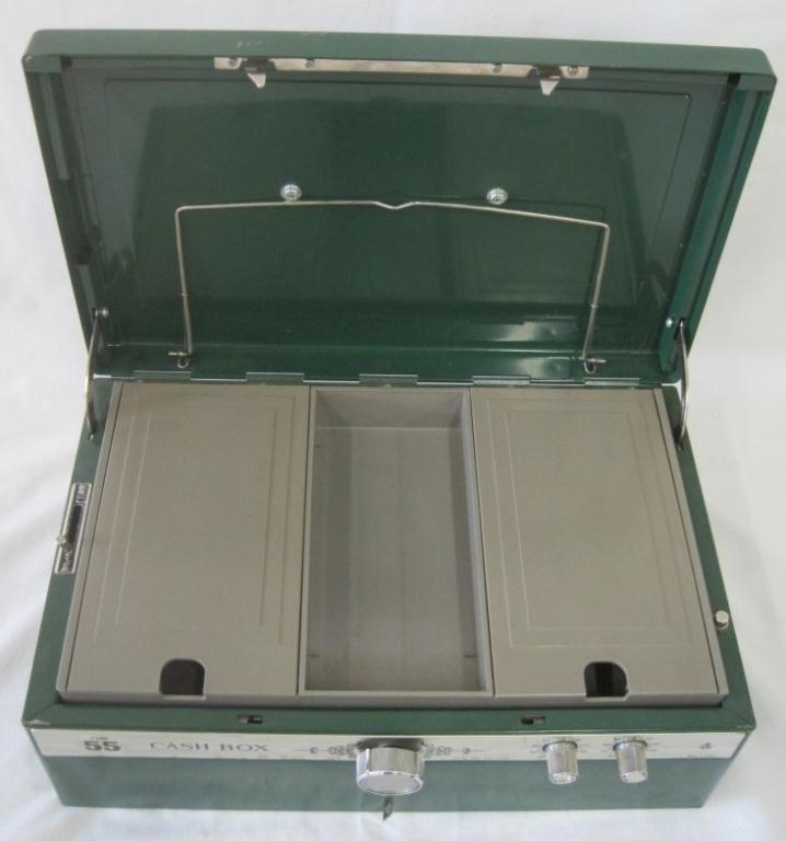 VINTAGE ELM CASH BOX - 3