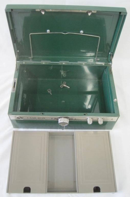 VINTAGE ELM CASH BOX - 4