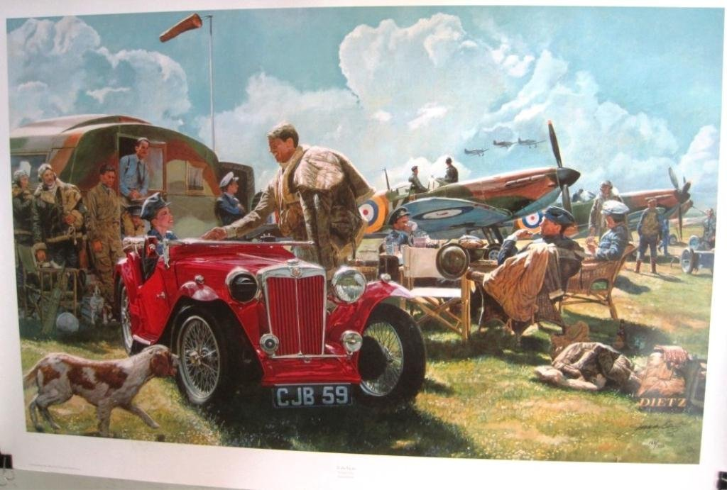 JAMES DIETZ SIGNED PRINT TO THE VICTOR