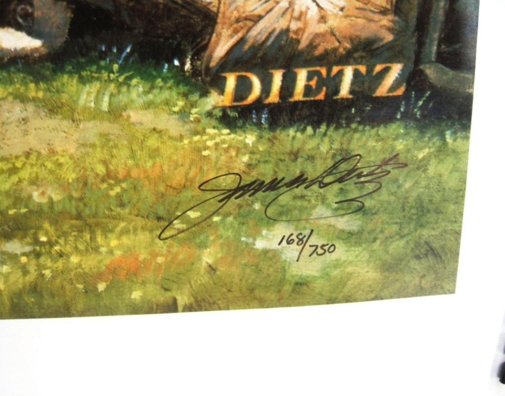 JAMES DIETZ SIGNED PRINT TO THE VICTOR - 2