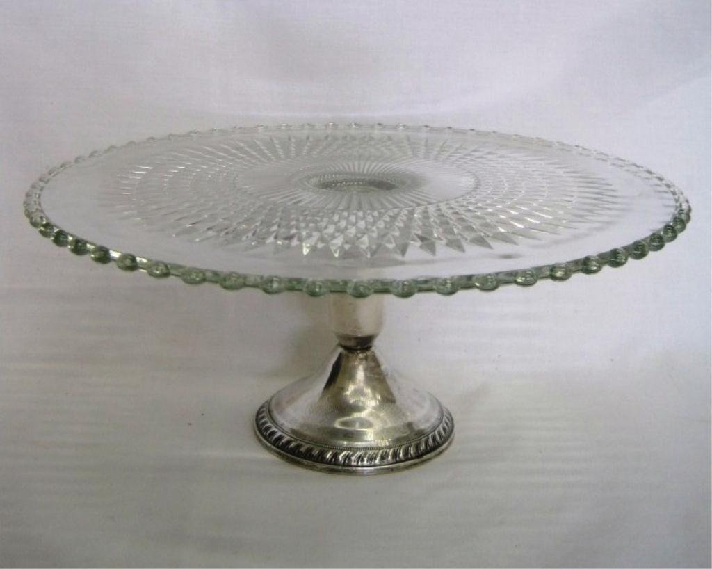 CANDLEWICK STERLING CAKE STAND PLATTER
