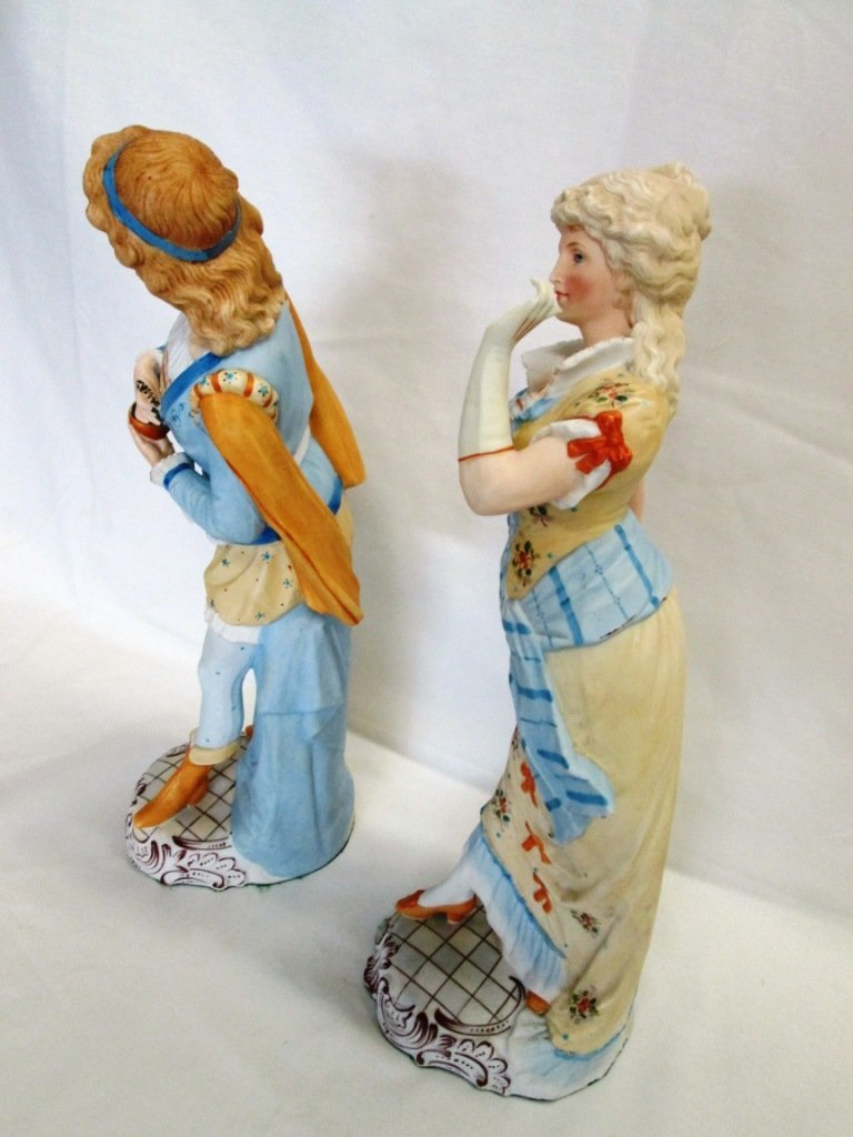 14A: PAIR OF ANTIQUE FRENCH BISQUE FIGURINES - 3