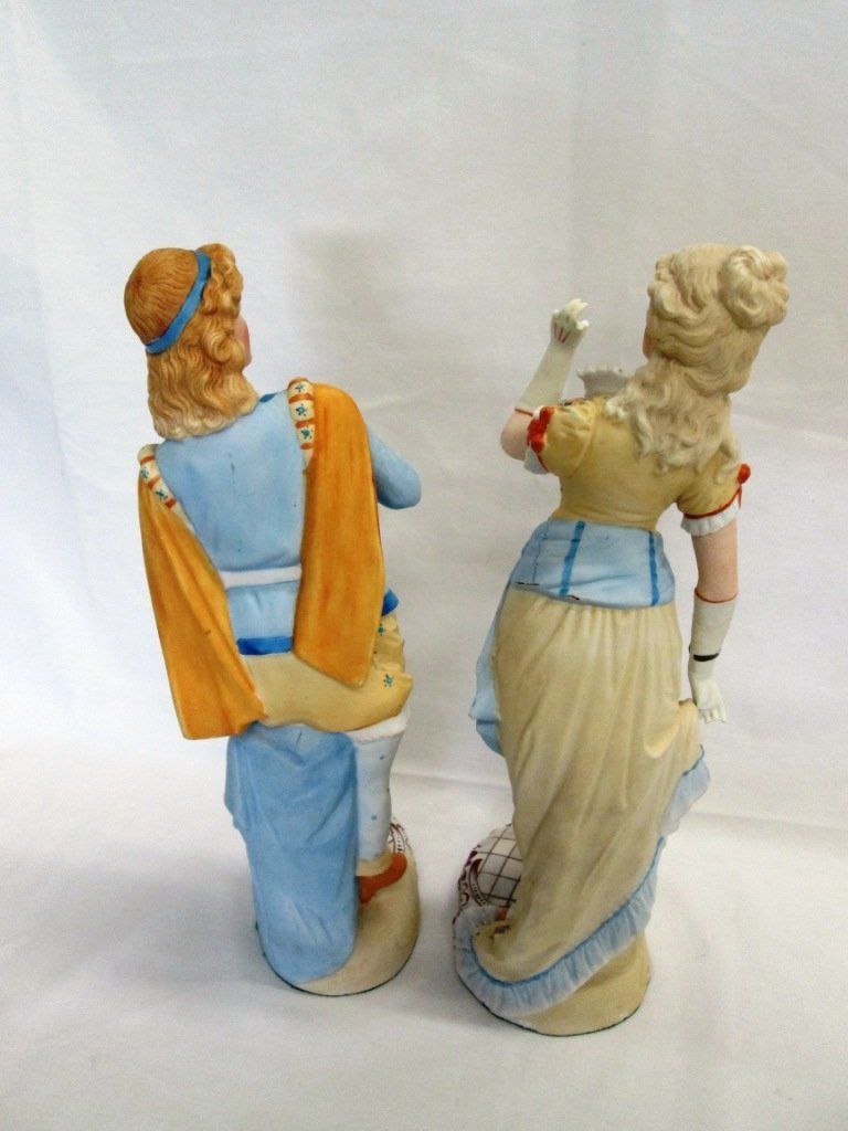 14A: PAIR OF ANTIQUE FRENCH BISQUE FIGURINES - 4