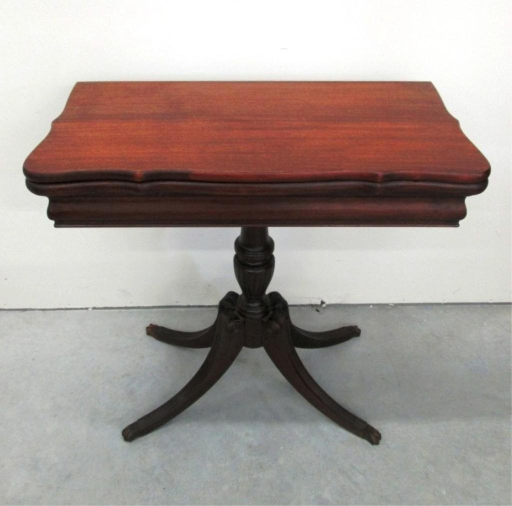 MAHOGANY FOLD OVER TEA TABLE