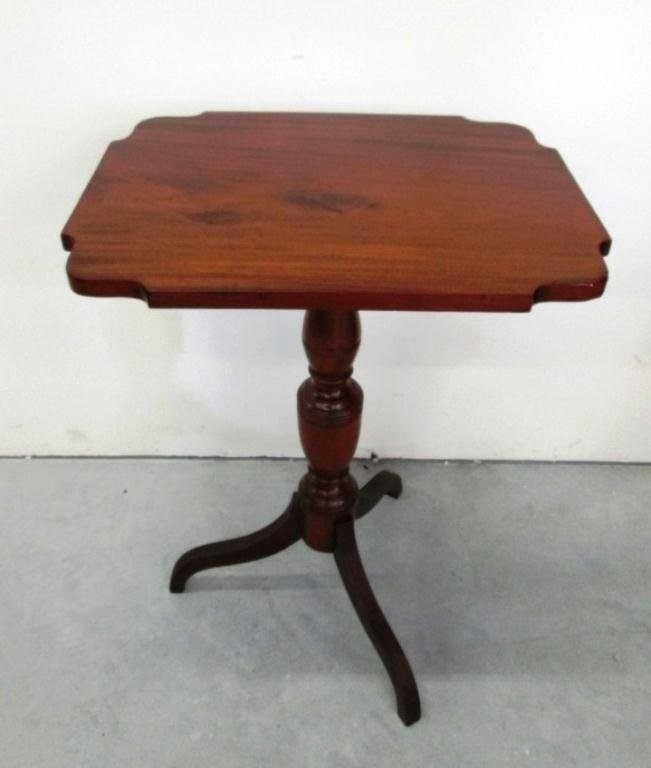 19TH CENTURY TRIPOD RECTANGLE TILT TOP TABLE