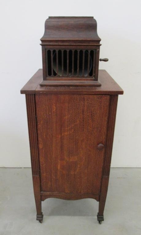 EDISON AMBEROLA PHONOGRAPH, CABINET AND CYLINDERS