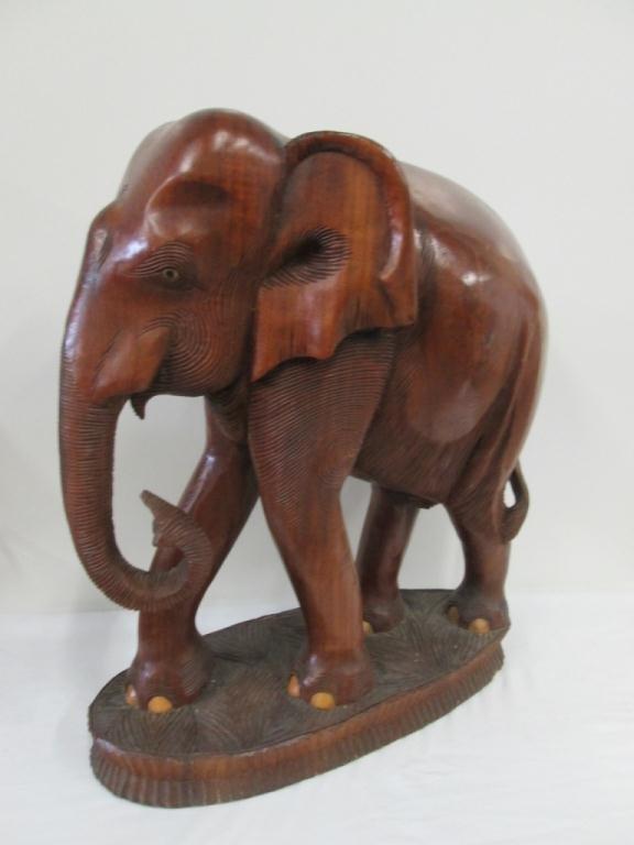 LARGE TEAK ELEPHANT