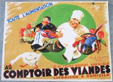 FRENCH ADVERTISING COLOR LITHOGRAPH POSTER  ROB DAC