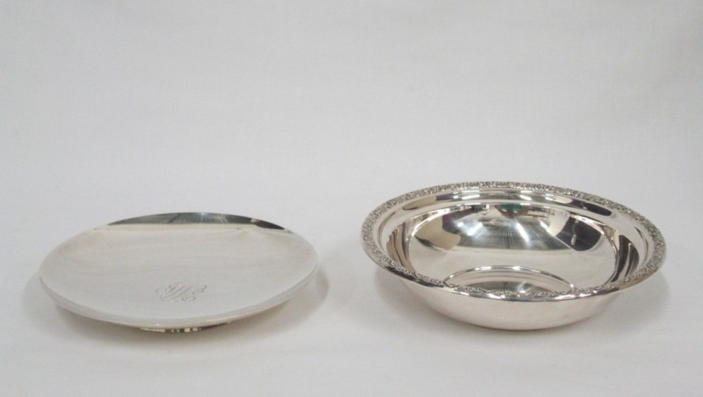(2) STERLING SILVER DISHES
