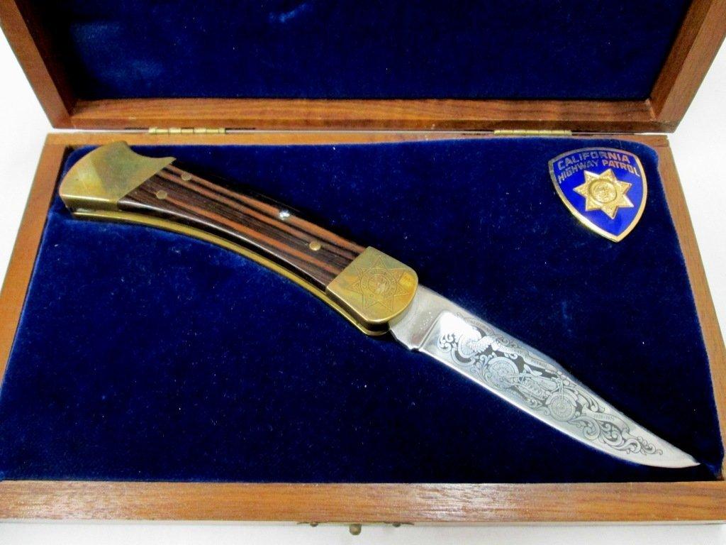 CALIFORNIA HIGHWAY PATROL BUCK KNIFE