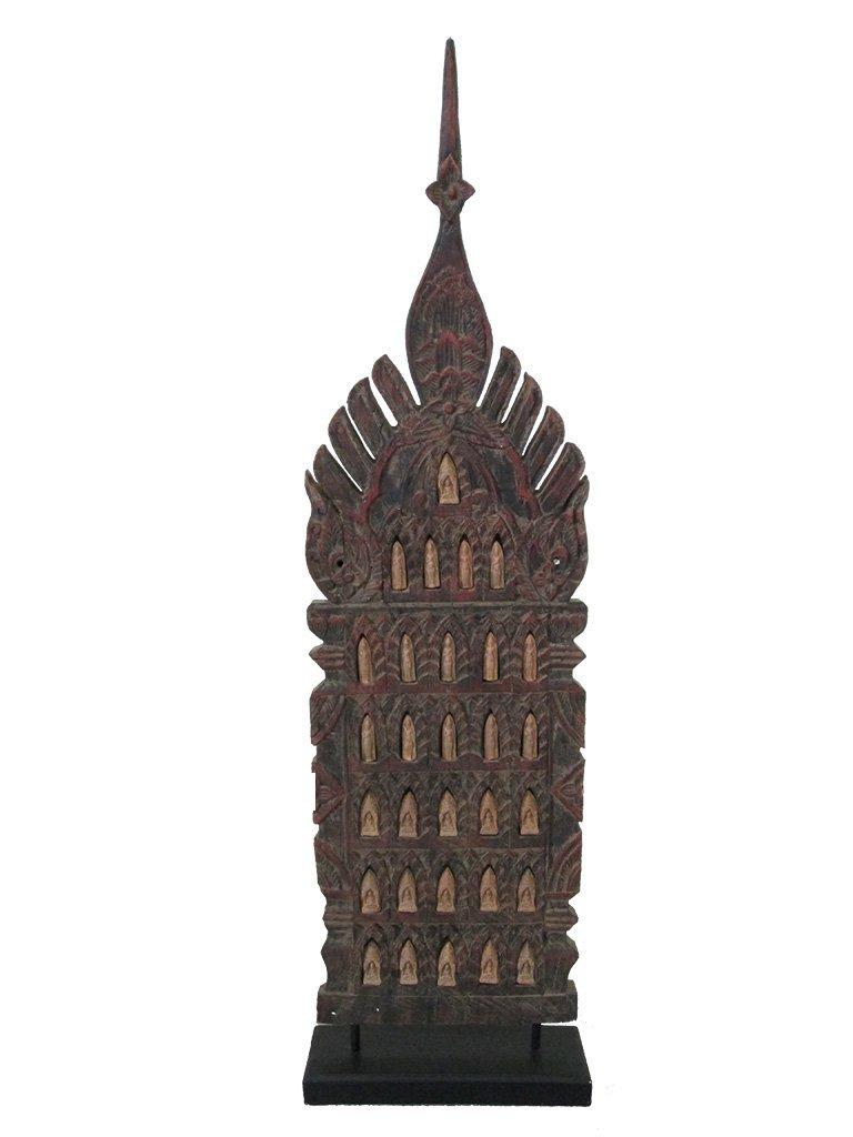 CARVED WOOD BUDDHA ICON