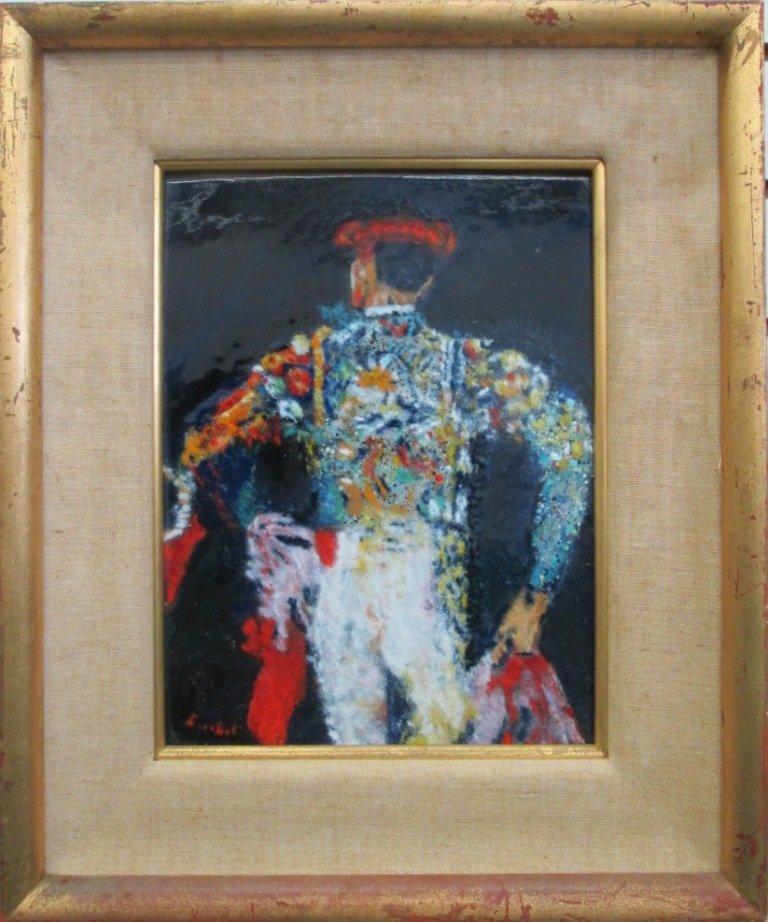 MOLLY FISCHEL ENAMEL ON COPPER ART