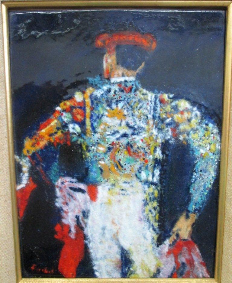 MOLLY FISCHEL ENAMEL ON COPPER ART - 2