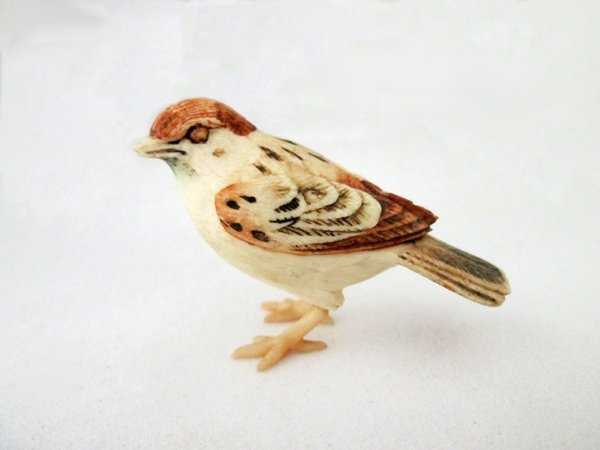 POLYCHROME IVORY BIRD