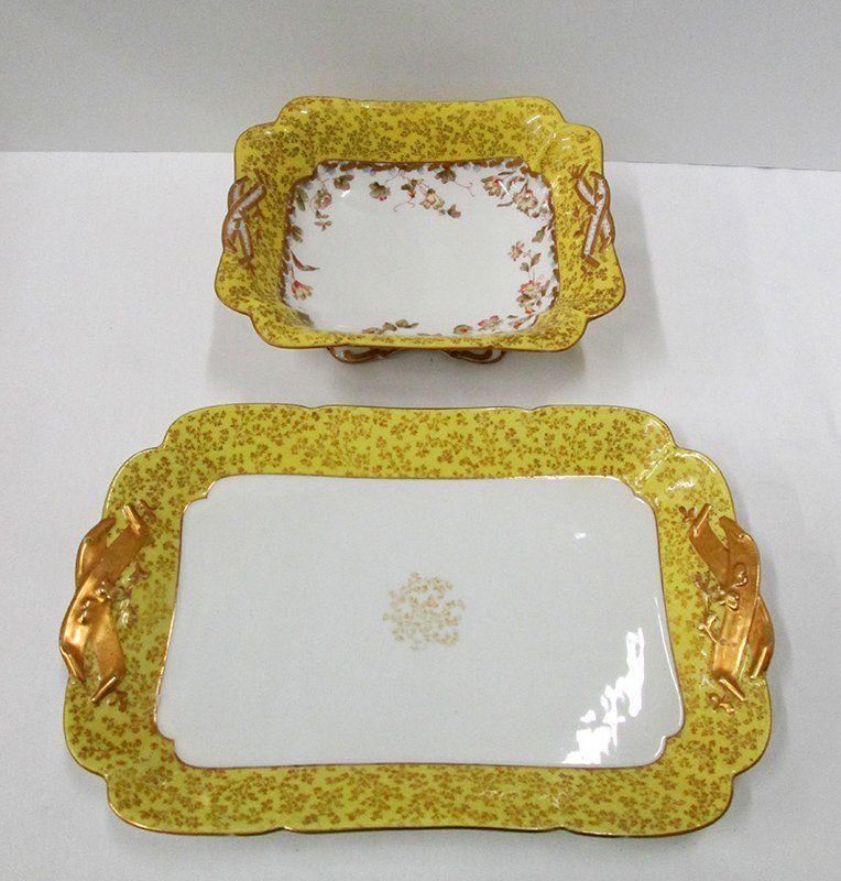 HAVILAND LIMOGES PORCELAIN BOWL & PLATTER
