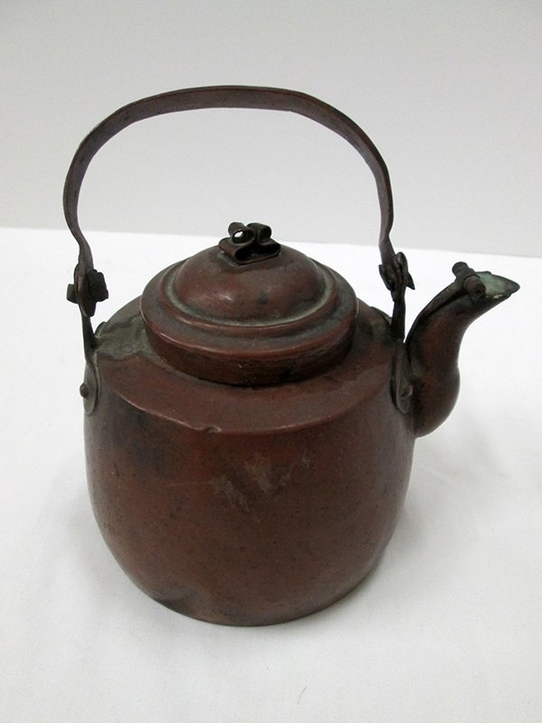 ANTIQUE HALLMARKED COPPER TEA KETTLE POT
