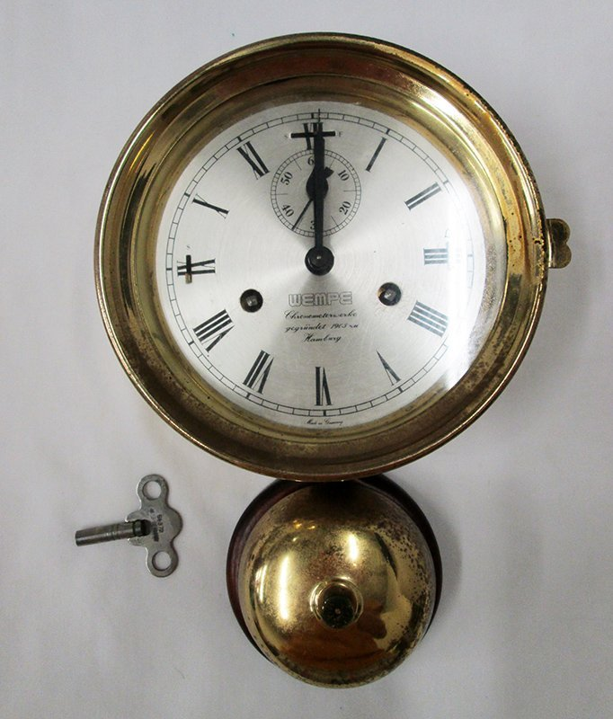 WEMPE NAUTICAL CLOCK W/ BELL