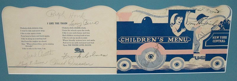 1947 NEW YORK YANKEES AUTOGRAPHED CHILDREN'S MENU