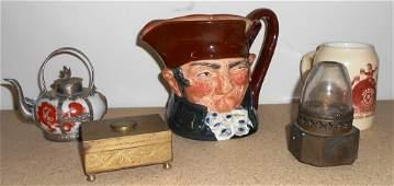 ROYAL DOULTON TOBY MUG, PABST MUG, ASIAN BOX & MORE