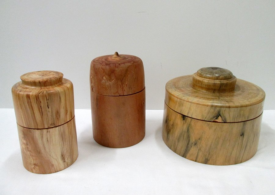 BARRY ELDER SIGNED 2005 HURRICANE WOOD CONTAINERS