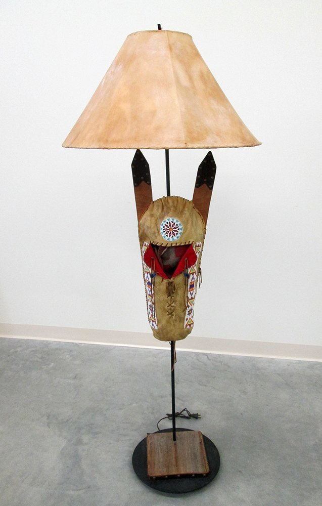 NATIVE AMERICAN CRADLEBOARD FLOOR LAMP