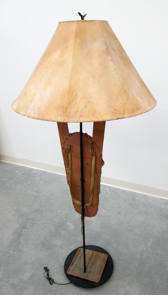 NATIVE AMERICAN CRADLEBOARD FLOOR LAMP - 3