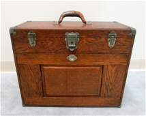 ENGINEERS OAK TOOL BOX GERSTNER  SON