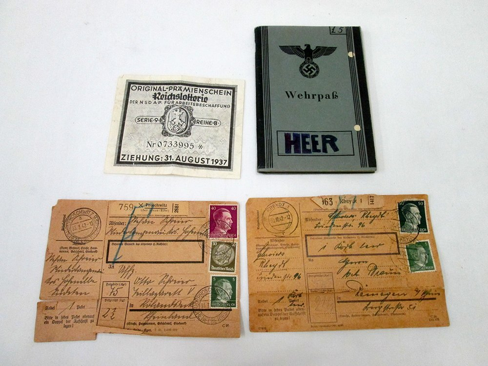 WWII NAZI GERMAN WEHRPASS PASSPORT & MORE