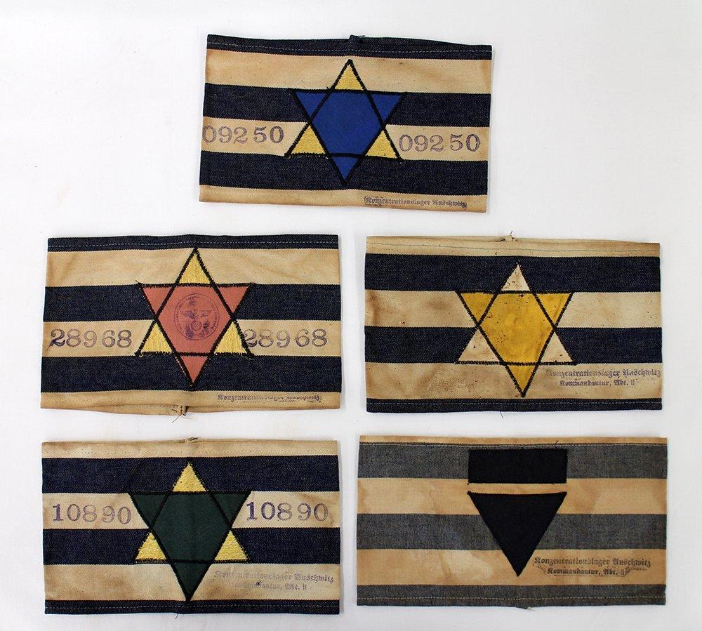 NAZI CONCENTRATION CAMP CLOTH ARMBANDS
