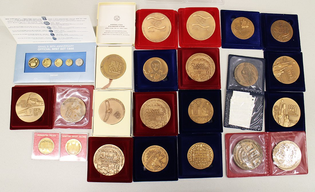 COLLECTION OF ISRAEL BRONZE MEDALS