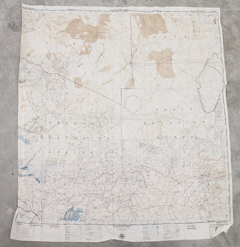 (4) WWII MILITARY CLOTH CHART ESCAPE MAPS