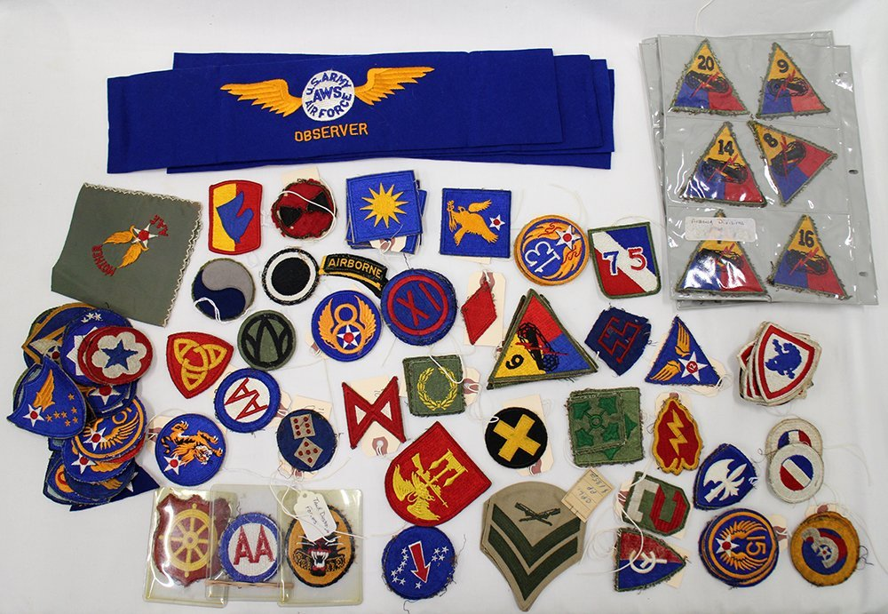 WWII MILITARY PATCHES & BADGES