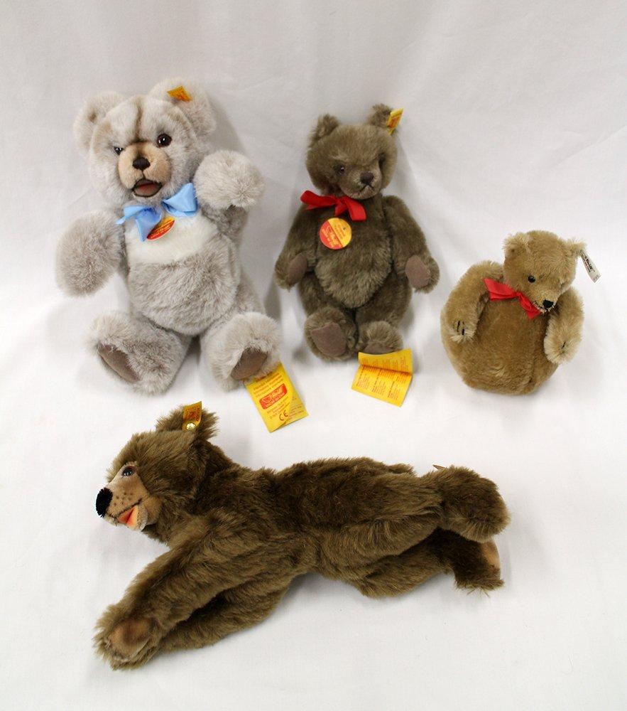 (4) STEIFF TEDDY BEARS