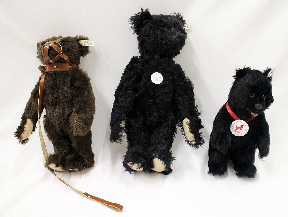 (3) STEIFF TEDDY BEARS